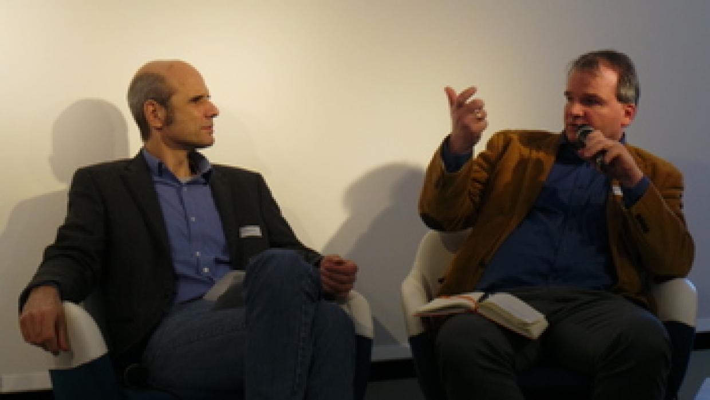 Thomas Gill (Landeszentrale für pol. Bildungsarbeit Berlin) und Arno Busse (Bundeszentrale für pol. Bildung)