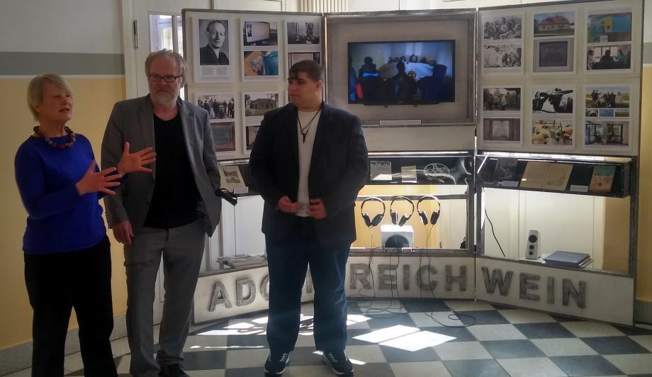 Ausstellungseröffnung mit Sabine Reichwein und Matthias Schellenberger.