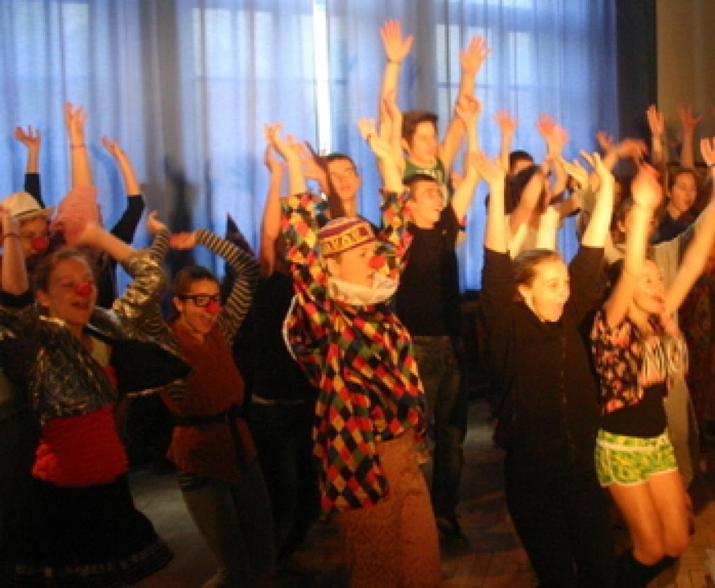 Zusammen in der Manege: Beste Stimmung beim deutsch-polnischen Zirkusworkshop