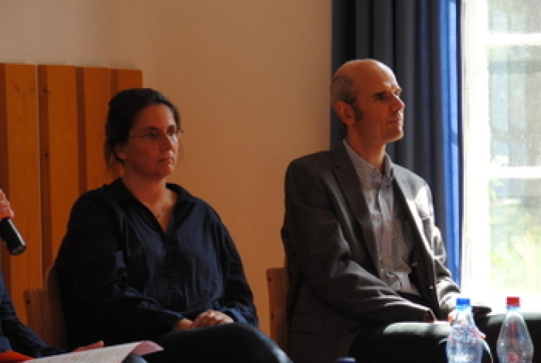 Katrin Krumrey und Thomas Gill berichteten über die Diskussionen anlässlich des Umzugs von Berlin nach Werftpfuhl.