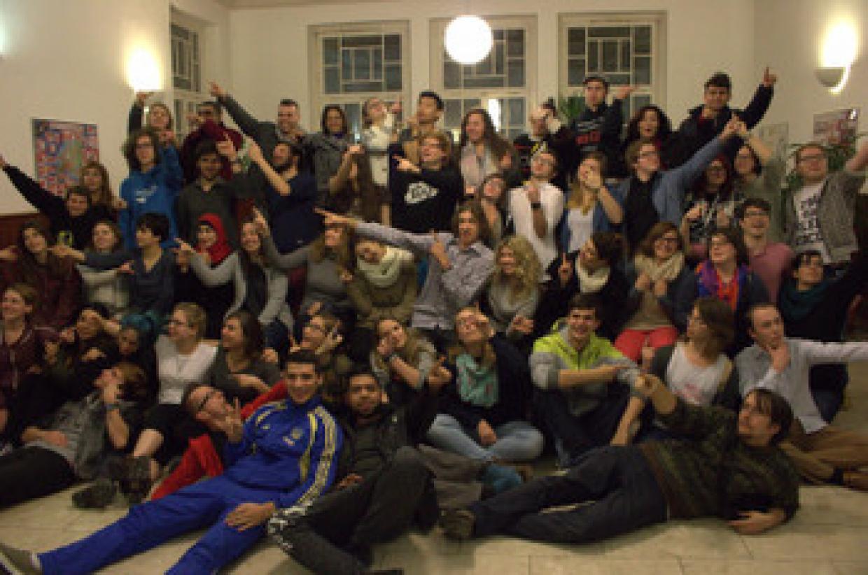 Gruppenbild mit Teilnehmenden der Internationalen Winterschule 2015/2016