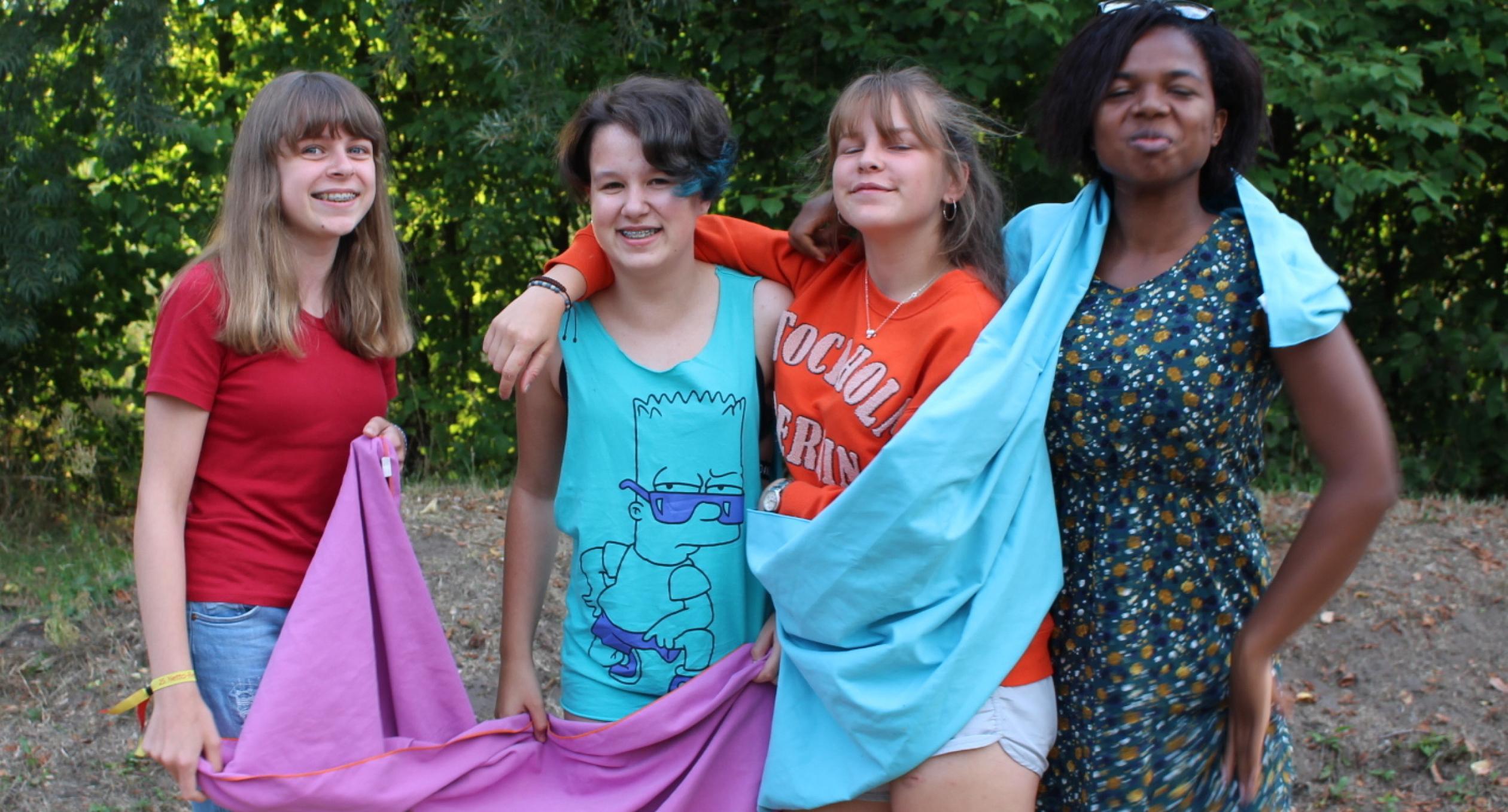Mädchen beim Deutsch-polnischen Kultursommer 2018