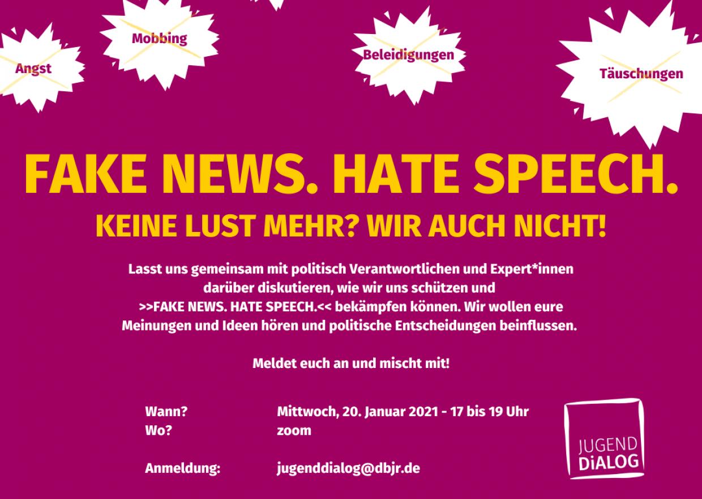 Jugenddialog-Event: FAKE NEWS. HATE SPEECH.