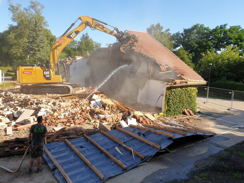 Abriss der alten Halle Ende Juli 2020